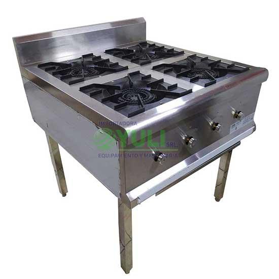 cocina 4 hornallas anafre